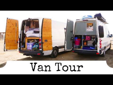 VW Crafter Van Tour | Full Time Vanlife With 2 People & Big Dog!
