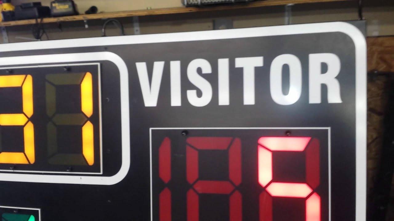 Fair-Play Basketball Scoreboard Model 1620 For Sale - YouTube