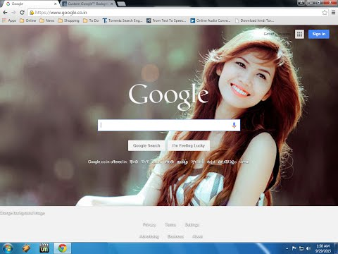 How To Put Your Image On Google Home Page
