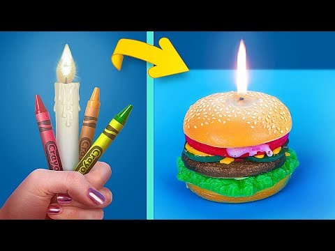 Get Lit With Drink And Snack Inspired Candles / 7 Cool Hacks With Candles And Crayons
