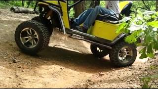 Slow-Motion Golf Cart Off-Roading (Redneck, White-Trash, Mudding, Crashing & Bashing #4)