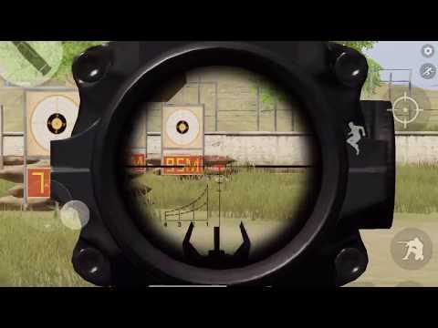 [荒野行動] 射撃場での調整作業 [iPad Air2]