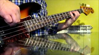 Stray Cats - Rock This Town Bass Cover (line original)
