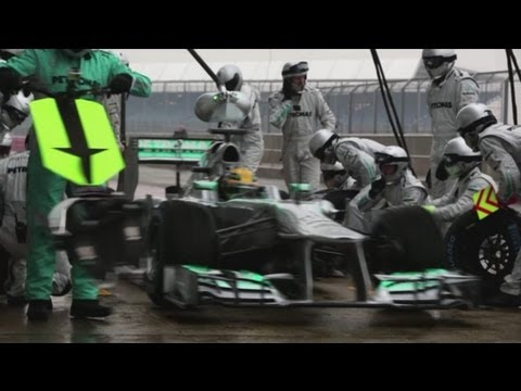 F1 News - Lewis Hamilton tests his new Mercedes car at Silverstone