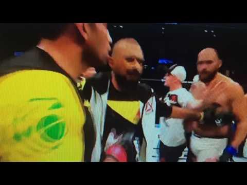 Fabricio Werdum kicks Edmond Tarverdyan after final Bell of Travis Brown bout MUST SEE