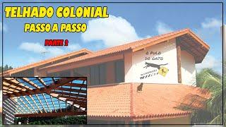 telhado colonial passo a passo 2 do 13 alinhando colunas para o corte