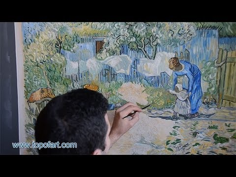 Art reproduction vincent van gogh first steps hand for Van gogh paintings locations