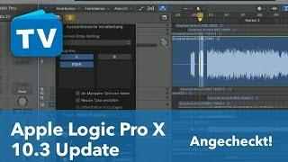 Logic Pro X 10.3 die neuen Features - mit 64/32 Bit Vergleichstest - deutsch
