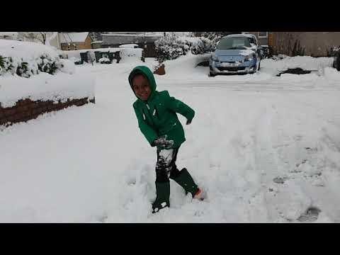 MY SON DESCRIBES WHERE SNOW COME FROM.