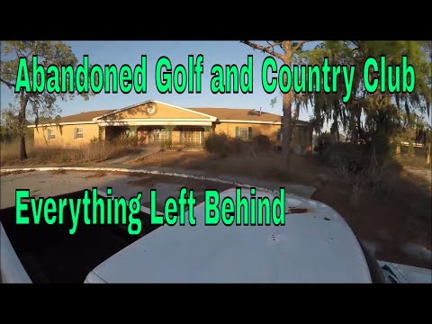 Abandoned  Golf and Country Club, everything left behind, GHOSTLY ENCOUNTER.