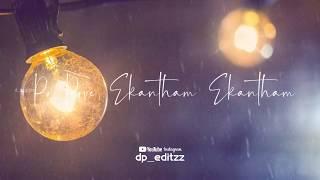 Po pove yekantham 💞 WhatsApp status Telugu   Lovely Song 💕 💞😘 WhatsApp status Telugu   DP EDITZZ