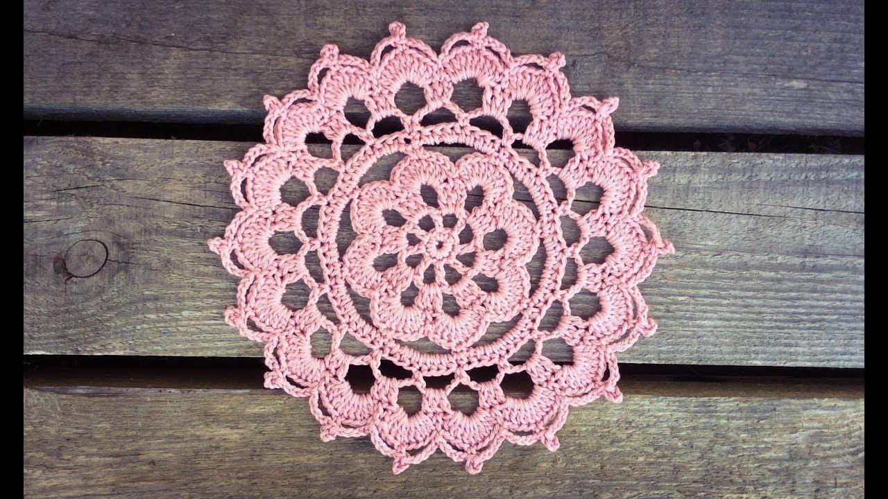 Crochet Flower Summer Haze Doily Tutorial Easy For