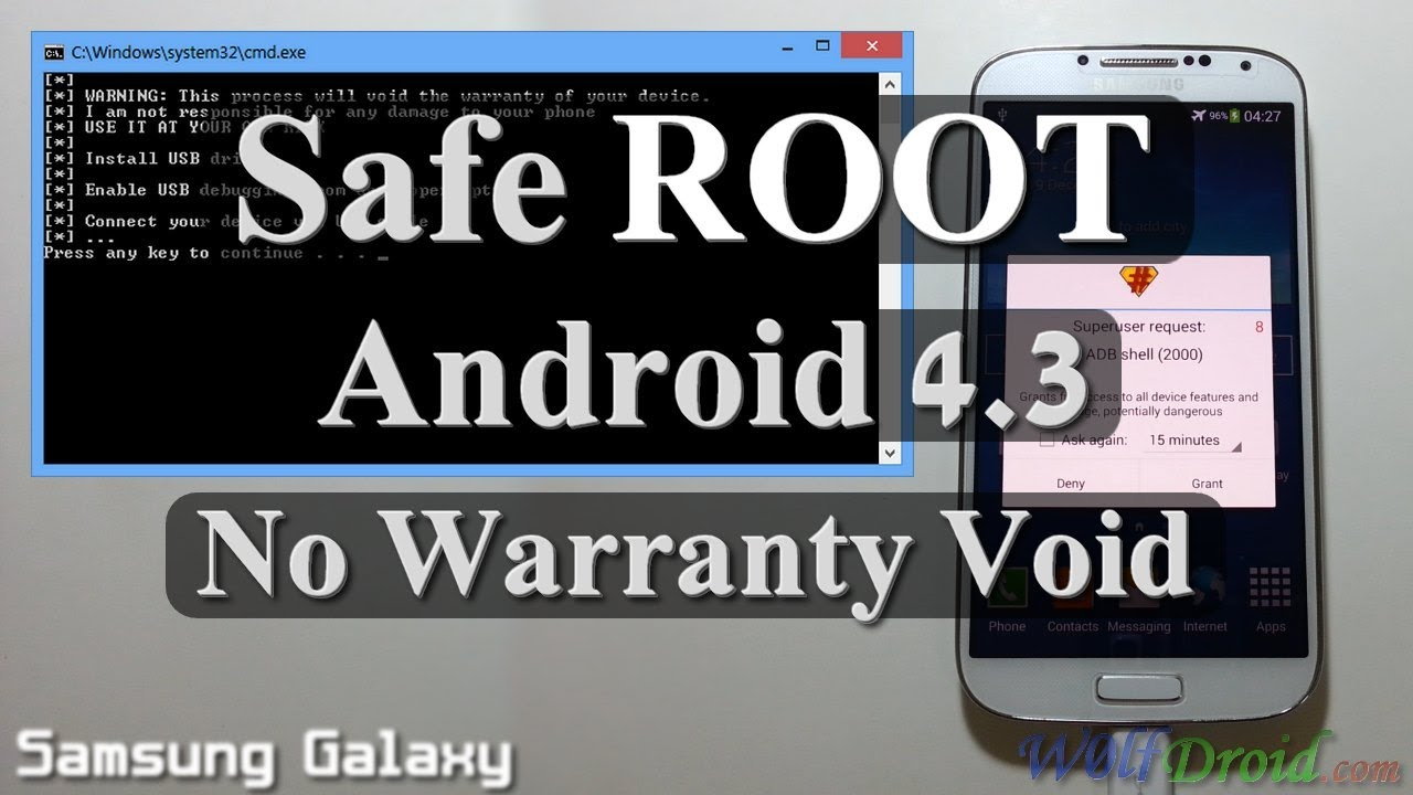 No Warranty Void Safe Root Android 4 3 For Samsung Galaxy S3 S4 Youtube