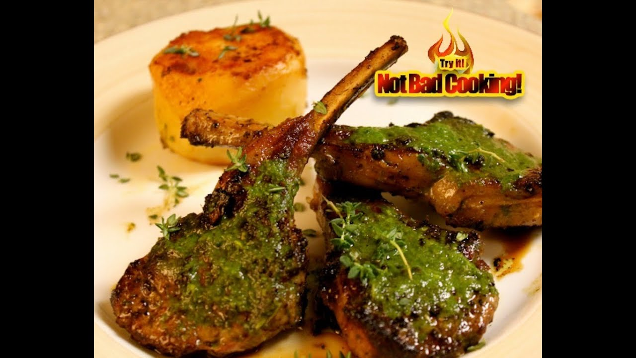 Lamb Chops with Green Sauce! Chuletas de cordero en salsa ...