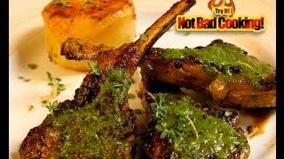 Lamb Chops With Green Sauce! Chuletas De Cordero En Salsa Verde!