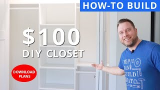 DIY Bedroom Closet With Sheets of Plywood for $100 | DIY | Woodworking Project