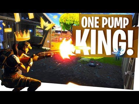 I AM THE ONE PUMP KING! - Fortnite Clutch One Pump Gameplay
