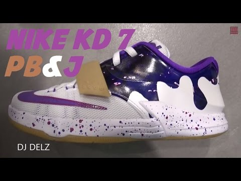 official photos 58a08 6cfbb Nike KD 7 Peanut Butter   Jelly PB J GS Sneaker Review W   DjDelz