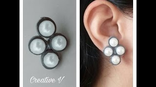 How to Make Quilling Stud Earrings/Design 9/Tutorial