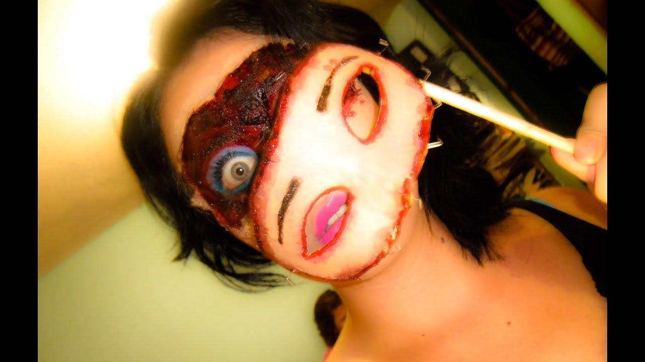 Maquillaje para dia de muertos antifaz sangriento halloween youtube - Maquillage dia de los muertos ...