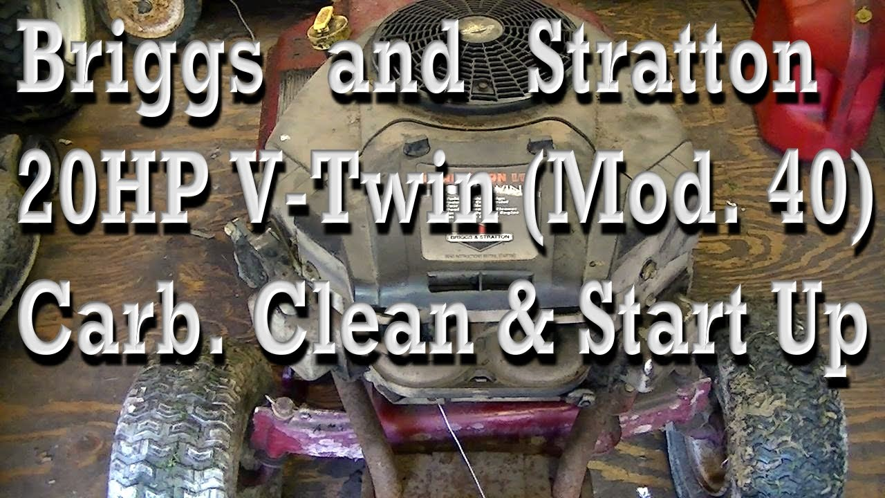 Briggs And Stratton 20hp V Twin Model 40 Carburetor Clean 31as2s1e701 Parts List Diagram 2011 Ereplacementpartscom Startup