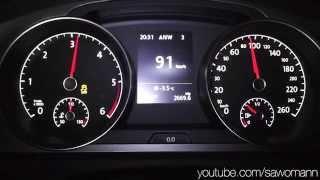2013 Volkswagen Golf VII 1.6 TDI 105 HP 0-100 km/h Acceleration GPS