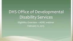 DHS Office of Developmental Disability Services Eligibility Overview