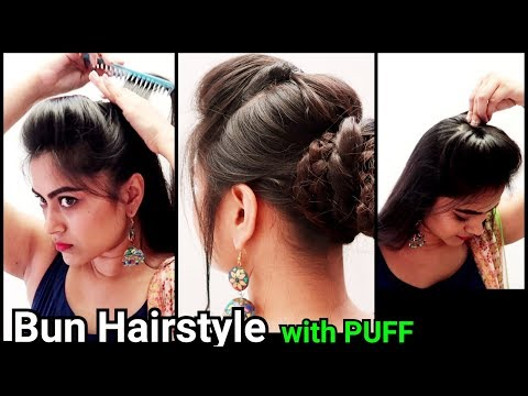 Ethnic Bun With Puff Hairstyle