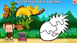 Kids Learn Fruits Numbers Shapes Colors With Monkey Preschool Lunchbox Kids Educational Games