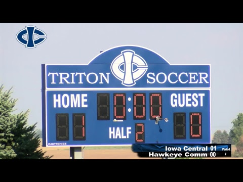 Men's Soccer: Iowa Central vs Hawkeye Community College (9/23/2017)