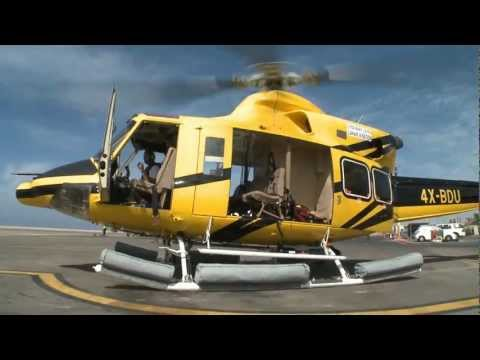 """Bell-412sp flight to gas pipe-laying ship """"Solitaire"""" - 4X-BDU, Runway 21 Sde Dov, Israel"""