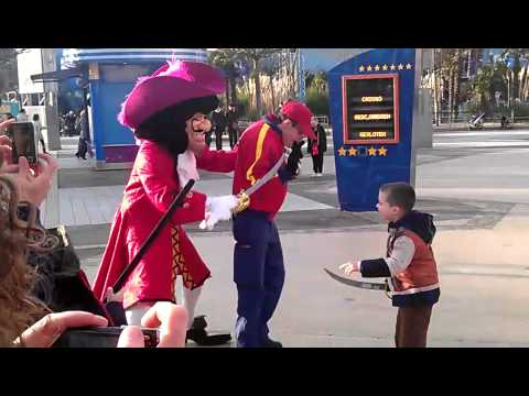 Daniel V Hook Sword fight in Disneyland Paris Jan