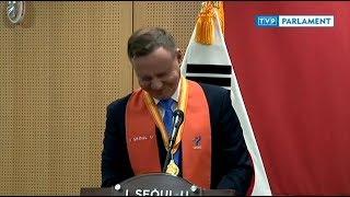 Prezydent rozśmieszył Koreańczyków kapitalnym żartem o Polakach na zimowych igrzyskach ;-)