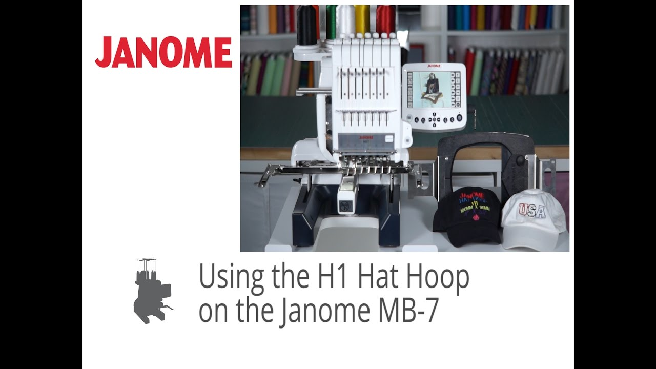 Janome Mb7 Can Embroider Baseball Hats With The Hat Hoop Youtube