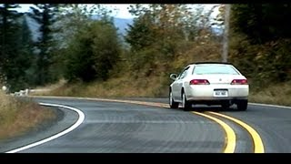 HONDA car CHASE!!! Prelude and Civic Si on twisty Road - VTEC @ Top RPM