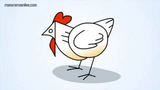 Draw a Hen With 10 | Animated Videos for Children | Manorama Online