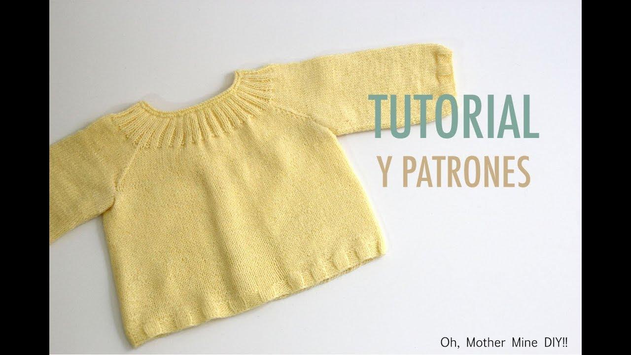 a0b5f13c3 DIY Cómo tejer jersey para bebés (patrones gratis) - YouTube