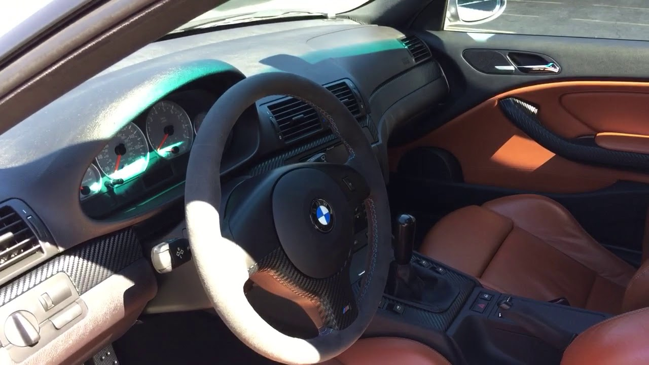 Marvelous Silver Gray On Cinnamon 2006 E46 M3 ZCP   Interior 9/25/17 Nice Look