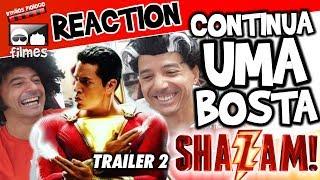 🎬 SHAZAM Continua UMA BOSTA 💩  Reaction Irmãos Piologo Filmes