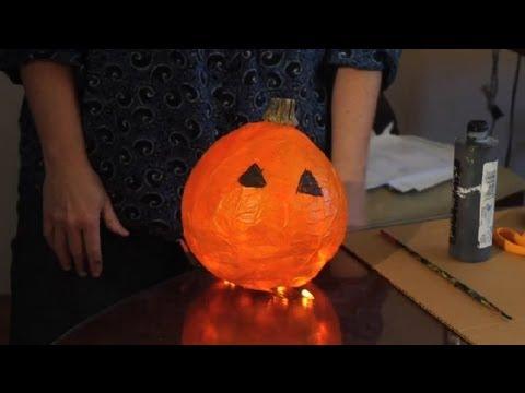 Paper Pumpkin Decorating Ideas : Art Projects for Kids