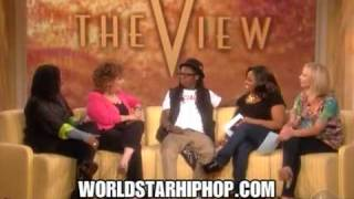 lil wayne on the view says his grill is actually braces 4 24 09 irhymenowcom