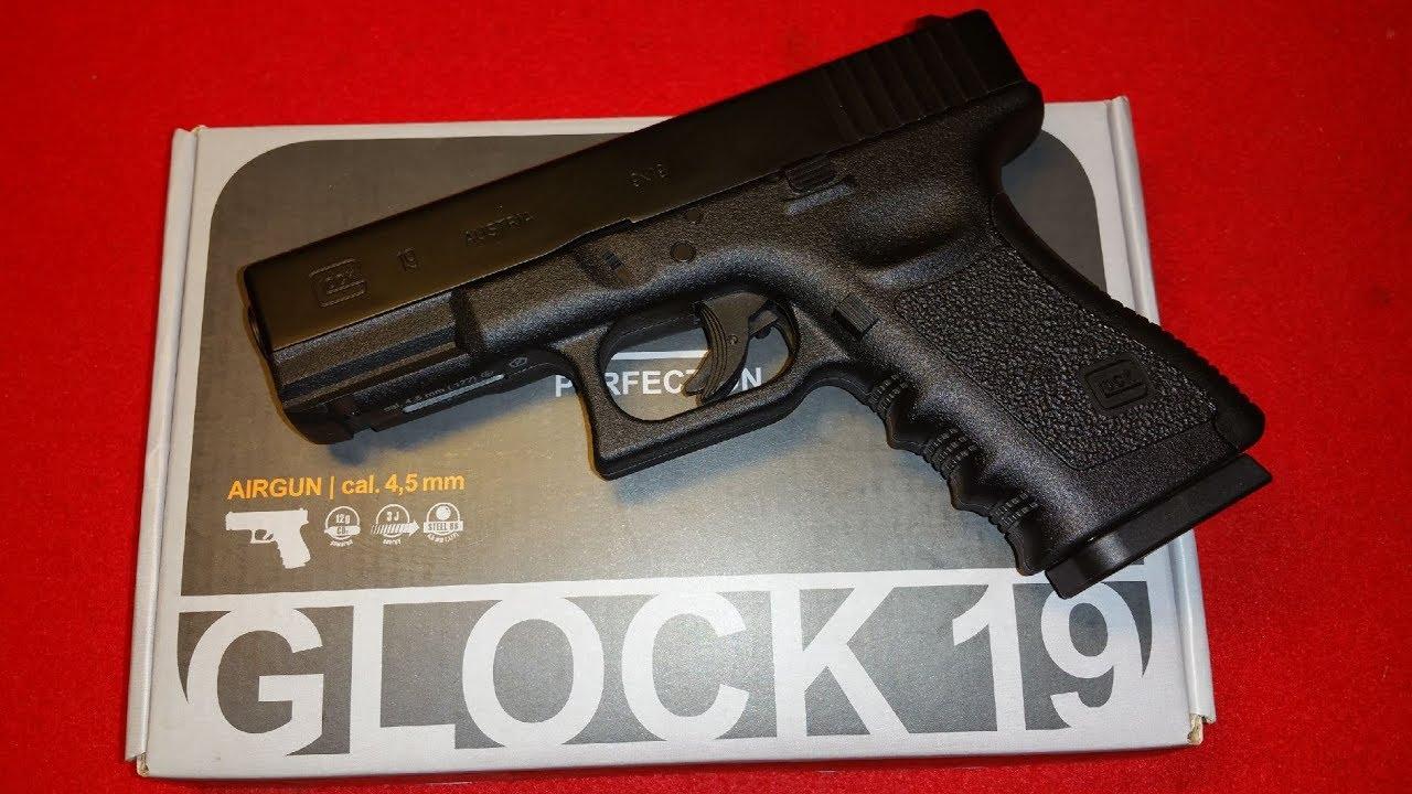 Umarex / WinGun / Glock 19 Gen 3 CO2 / 4,5mm NBB / Review /german / deutsch