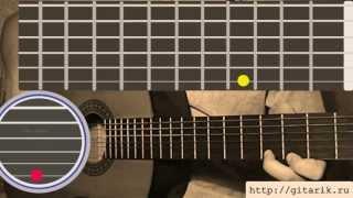 Карандаш - Без тебя Видео урок на гитаре