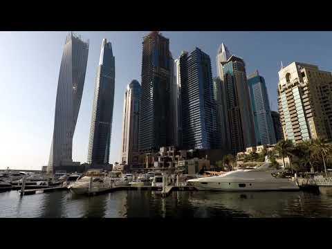 Dubai Marina Walking Tour 4K
