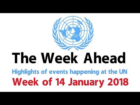The Week Ahead - starting 14 January 2018