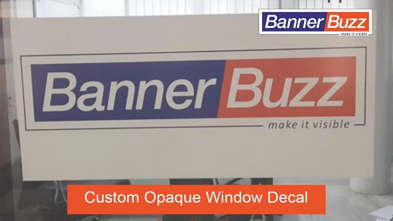 Custom Opaque Window Decals For Business  Home YouTube - Window stickers for business