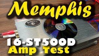 Memphis 16-ST500D 500 Watt Monoblock Power Output Test and Sub Demo DD-1