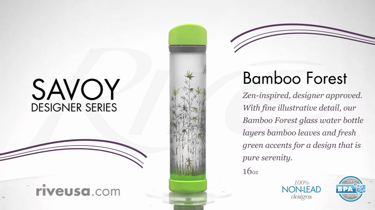 Rive Designer Water Bottles Bamboo Forest Fashion Glass Water Bottles Youtube