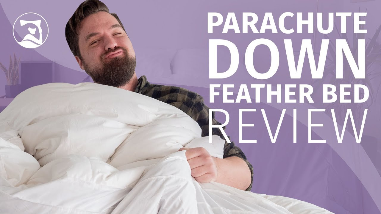 parachute down feather bed review a fluffy topper