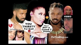 Drake Calls Nicki Minaj THiRSTY for Michael B Jordan Shot! Lewis Hamilton Cool with him ❥